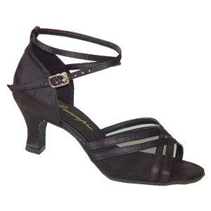 ダンスシューズ・社交ダンスシューズ・レディース【セミオーダー】女性ラテンシューズ・ブラック・黒160302セミオーダー品ですのであなたにぴったりの1足がつくれますよ♪