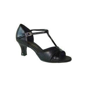 ダンスシューズ・社交ダンスシューズ・レディース【セミオーダー】女性ラテンシューズ・黒ブラック161710セミオーダー品ですのであなたにぴったりの1足がつくれますよ♪