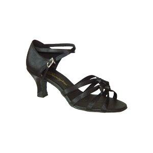 ダンスシューズ・社交ダンスシューズ・レディース【セミオーダー】女性ラテンシューズ・黒ブラック162301セミオーダー品ですのであなたにぴったりの1足がつくれますよ♪