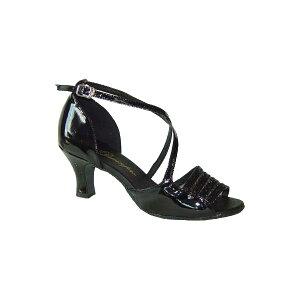 ダンスシューズ・社交ダンスシューズ・レディース【セミオーダー】女性ラテンシューズ・黒ブラック165207セミオーダー品ですのであなたにぴったりの1足がつくれますよ♪