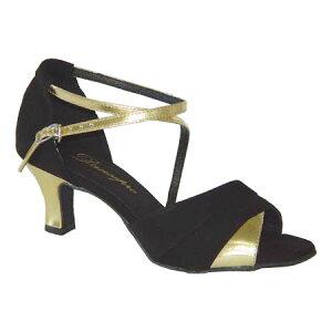 ダンスシューズ・社交ダンスシューズ・レディース【セミオーダー】女性パーティーシューズ・黒ブラック165902セミオーダー品ですのであなたにぴったりの1足がつくれますよ♪