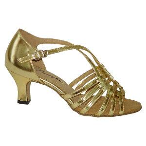 ダンスシューズ・社交ダンスシューズ・レディース【セミオーダー】女性ラテンシューズ・ゴールド166101セミオーダー品ですのであなたにぴったりの1足がつくれますよ♪