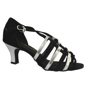 ダンスシューズ・社交ダンスシューズ・レディース【セミオーダー】女性ラテンシューズ・ブラック166108セミオーダー品ですのであなたにぴったりの1足がつくれますよ♪