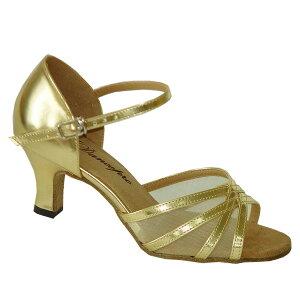 ダンスシューズ・社交ダンスシューズ・レディース【セミオーダー】女性ラテンシューズ・ゴールド160506セミオーダー品ですのであなたにぴったりの1足がつくれますよ♪