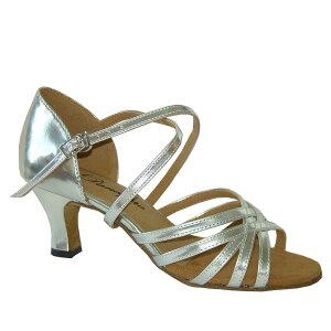 ダンスシューズ・社交ダンスシューズ・レディース【セミオーダー】女性ラテンシューズ・シルバー161301セミオーダー品ですのであなたにぴったりの1足がつくれますよ♪