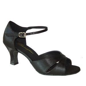 ダンスシューズ・社交ダンスシューズ・レディース【セミオーダー】女性ラテンシューズ・黒ブラック161503セミオーダー品ですのであなたにぴったりの1足がつくれますよ♪
