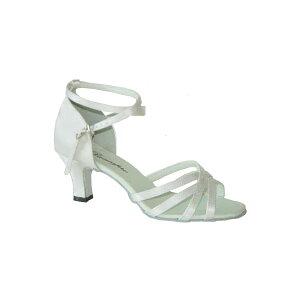 ダンスシューズ・社交ダンスシューズ・レディース【セミオーダー】女性ラテンシューズ・白ホワイト162802セミオーダー品ですのであなたにぴったりの1足がつくれますよ♪