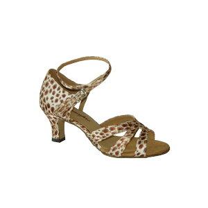 ダンスシューズ・社交ダンスシューズ・レディース【セミオーダー】女性ラテンシューズ・豹柄165803セミオーダー品ですのであなたにぴったりの1足がつくれますよ♪