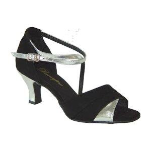 ダンスシューズ・社交ダンスシューズ・レディース【セミオーダー】女性ラテンシューズ・黒ブラック165903セミオーダー品ですのであなたにぴったりの1足がつくれますよ♪