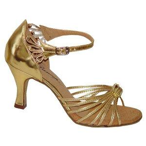 ダンスシューズ・社交ダンスシューズ・レディース【セミオーダー】女性ラテンシューズ・ゴールド167105セミオーダー品ですのであなたにぴったりの1足がつくれますよ♪