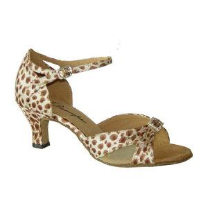 ダンスシューズ・社交ダンスシューズ・レディース【セミオーダー】女性ラテンシューズ・豹柄167701セミオーダー品ですのであなたにぴったりの1足がつくれますよ♪
