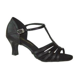 ダンスシューズ・社交ダンスシューズ・レディース【セミオーダー】女性ラテンシューズ・黒ブラック169302セミオーダー品ですのであなたにぴったりの1足がつくれますよ♪