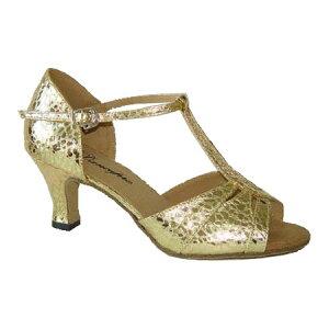 ダンスシューズ・社交ダンスシューズ・レディース【セミオーダー】女性ラテンシューズ・ゴールド170303セミオーダー品ですのであなたにぴったりの1足がつくれますよ♪