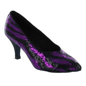 ダンスシューズ・社交ダンスシューズ・レディース【セミオーダー】女性モダンシューズ・紫パープル690308セミオーダー品ですのであなたにぴったりの1足がつくれますよ♪