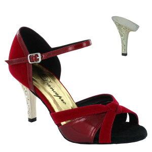 ダンスシューズ・社交ダンスシューズ・レディース【セミオーダー】女性ラテンシューズ・赤レッド174802セミオーダー品ですのであなたにぴったりの1足がつくれますよ♪
