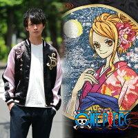 桜花とナミ刺繍スカジャンOPSJ-011ONEPIECE×SwitchPlanning【送料無料】