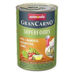 [82438] アニモンダ グランカルノ ウェット スーパーフード アダルト 七面鳥・フダンソウ・ローズヒップ・アマニオイル 400g [ ドッグフード ウェットフード 缶詰 animonda ]