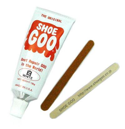ママ割エントリー全品ポイント3倍シューグー ( shoe goo ) 靴・靴底の修理・補修 用品 100g 白色 ホワイト靴 ( スニーカー ブーツ 革靴 白靴 シューズ ) の かかと ( ヒール ソール )の修理剤・補修剤・接着剤コロンブス シューズ強力補修剤