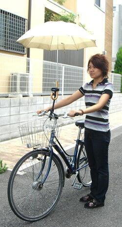 [20%ポイントバック]自転車用傘スタンド[即納][送料無料]キアーロサイクル傘スタンド(自転車用傘立て)※日傘での日よけや紫外線対策自転車に傘を取り付けられます
