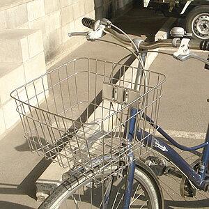 5/6(木)より順次出荷 最大400円OFFクーポン自転車用前かご ステンレス前カゴ SST-411 フロントバスケット 軽快車、シティサイクル、ママチャリ用 自転車の前かご 自転車用前カゴ 自転車のカ