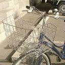 [ママ割エントリでポイント5倍]自転車用前カゴ ワイドカゴ ワイヤーメッシュ ステンレス D-55ST 軽快車、シティサイクル、ママチャリ用 自転車の前かご 自...