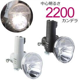キャッシュレス5%還元[送料無料]LED発電ランプ NSKL138 (ブラック、グレー) Pansonic(パナソニック) 自転車ライト 中心明るさ約2200cd(2200カンデラ)で明るい 自転車の前照灯(ライト) 低負荷ダイナモ採用