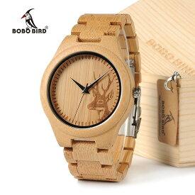 BOBOBIRD D28 竹製 腕時計 シカデザイン