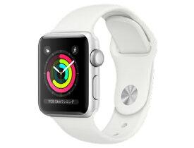 [新品] Apple Watch Series 3 GPSモデル 38mm MTEY2J/A [ホワイトスポーツバンド] アップルウォッチ 4549995043365