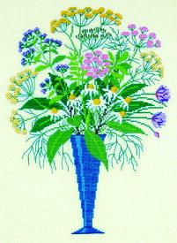 フレメ クロスステッチ 刺繍キット 【ハーブのブーケ】花と樹木 デンマーク 輸入ししゅうキット