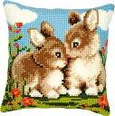 ベルバコ クロスステッチ 刺繍キット 【ウサギのクッション】 動物 ベルギー