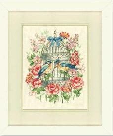 ベルバコ クロスステッチ 刺繍キット 【鳥かごとバラ 】 動物 ベルギー 輸入ししゅうキット