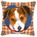 ベルバコ クロスステッチ 刺繍キット 【犬のクッション】 動物 ベルギー