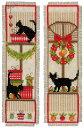 ベルバコ クロスステッチ 刺繍キット 【クリスマスキャットのブックマーク 】クリスマス ベルギー 輸入ししゅうキット