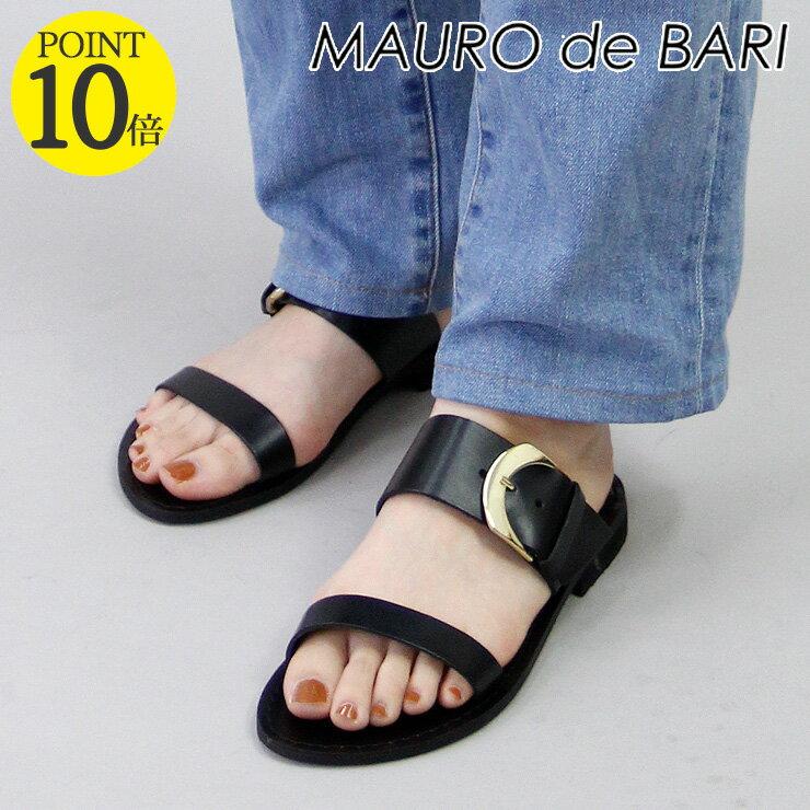 マウロデバーリ MAURO de BARI サンダル フラット バックル ベルト 本革 レディース 926 shoes fsandal 35/36/37/38/