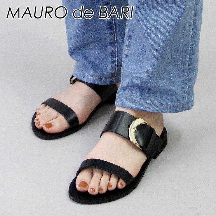 マウロデバーリ MAURO de BARI サンダル フラット バックル ベルト 本革 レディース 926 shoes fsandal 35/36/37/