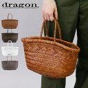 【正規品】【あす楽】dragon バッグ レザー メッシュバッグ ドラゴン ベルギー かごバッグ トート dragon diffusion レディース BAMBOO…