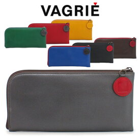 ヴァグリエ Vagrie 長財布 スリムウォレット 薄型 本革 L字 ファスナー レディース 黒 ブラック レッド グリーン ブルー ga0026
