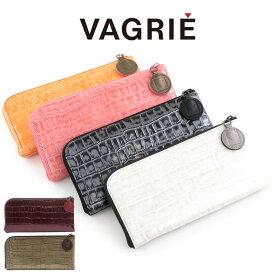 【クーポン付】ヴァグリエ vagrie 長財布 レディース 薄型 L字ファスナー 本革 クロコ型押し gk0026 L-origin