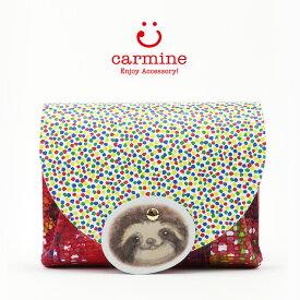カーマイン carmine 財布 ミニ財布 コンパクト 猫 ブランド アニマル レディース 個性 豚革 cwa