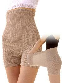 送料無料!★腹部には腹巻きによく使われるニット編みを改良!ウエストサイズはフリーの55cm〜100cmまで〜!締め付け感なく伸びます!伸びます!伸びます!24時間しっとりホカホカ〜のシルクのびのびパンツ2枚