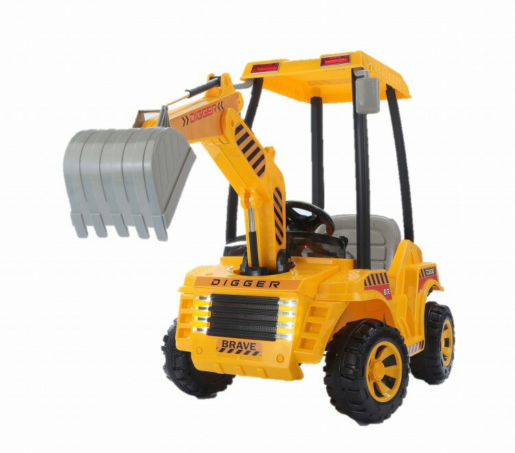 電動パワーショベルカー    おもちゃ 電動 アクセル 乗用 乗り物 建設機械 乗用玩具 子供用 こども用 シャベル プレゼント 贈り物 こども 孫