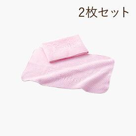 エステ・フェイスタオル ピンク ミューフル ローション洗顔専用