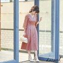 【桃さんコラボ】サテンフレア ワンピース ドレス 結婚式 二次会 パーティ レディース パーティードレス フォーマル …