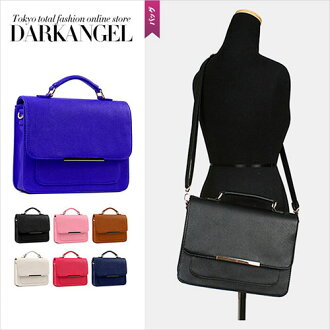 To you of the simple group! Simple square 2WAY bag / Lady's bag 2WAY handbag shoulder bag 2way Shin pull pochette DarkAngel/ dark angel