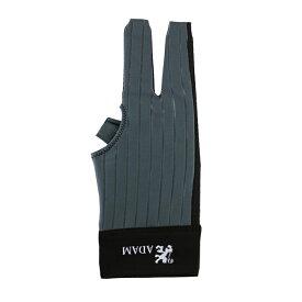 ビリヤードグローブ Adam 【アダム】 グローブ グレー 右利き用 M (Glove Gray RH M) | ビリヤード グローブ