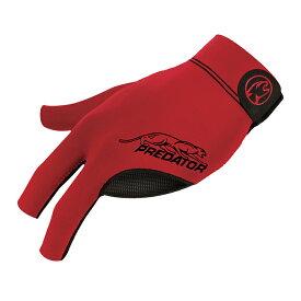 ビリヤードグローブ Predator 【プレデター】 プレデターセカンドスキングローブ レッド 右利き用 L/XL (Glove Red L/XL RH) | ビリヤード グローブ