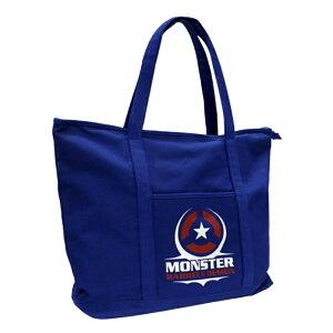 MONSTER DARTS【モンスターダーツ】 トートバック ブルー (Tote bag Blue)   オリジナルバッグ