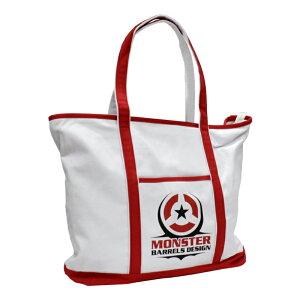 MONSTER DARTS 【モンスターダーツ】 トートバック ホワイト (Tote bag White)   オリジナルバッグ