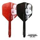 ダーツ フライト CONDOR Beauty コンドル ビューティー ブラック レッド シャフト一体型 (メール便OK/5トリ)