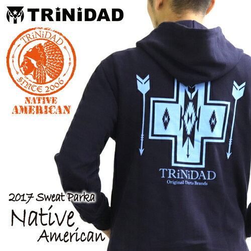 ダーツ TRiNiDADパーカー 2017 Native American ネイビー (メール便不可)